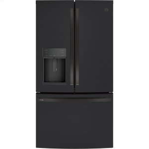 GE Profile™ Series ENERGY STAR® 22.1 Cu. Ft. Counter-Depth French-Door Refrigerator with Hands-Free AutoFill - FINGERPRINT RESISTANT BLACK SLATE