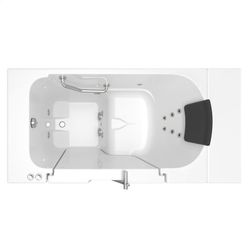 Gelcoat Premium Series 30x52 Walk-in Tub with Whirlpool Massage and Outswing Door, Left Drain  American Standard - White