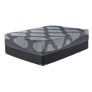 Ashley FurnitureASHLEY SLEEP12 Inch Ashley Hybrid - Gray 2 Piece Mattress Set