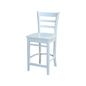 JOHN THOMAS FURNITURE24'' Emily Stool in Pure White