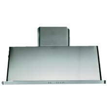 """Stainless Steel with Stainless Steel Trim 40"""" Range Hood with Warming Lights"""