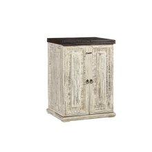 Bar Cabinet - Vintage White Finish