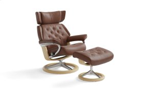 Stressless Skyline Medium Signature Base Chair and Ottoman