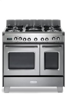 """36"""" Dual Fuel Double Oven Range - Stainless Steel"""