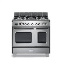 "36"" Dual Fuel Double Oven Range - Stainless Steel"