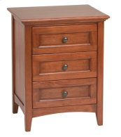 GAC 3-Drawer McKenzie Nightstand