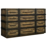 Bedroom Crafted Twelve-Drawer Dresser Product Image
