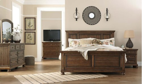 Flynnter - Medium Brown 3 Piece Bed Set (King)