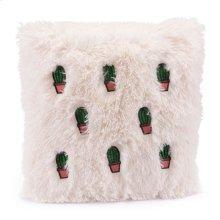 Pink Cactus Pillow Beige & Pink