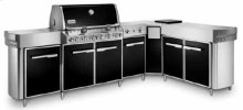 SUMMIT Natural Gas Grill Center with social Area (Black)