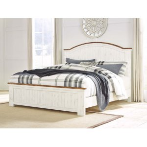 Ashley Furniture Wystfield - White/brown 3 Piece Bed Set (King)