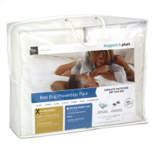 Sleep Calm 3-Piece Bed Bug Prevention Pack with Mattress and Zippered Box Spring Encasement, King