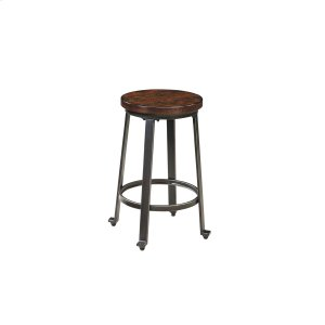 AshleySIGNATURE DESIGN BY ASHLEYChalliman - Rustic Brown Set Of 2 Dining Room Barstools