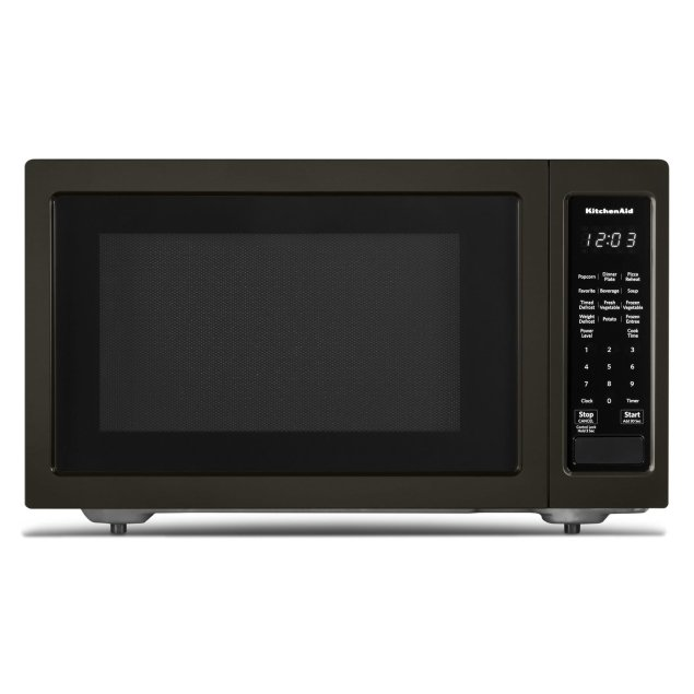 "KitchenAid 21 3/4"" Countertop Microwave Oven with PrintShield Finish - 1200 Watt Black Stainless Steel with PrintShield™ Finish"