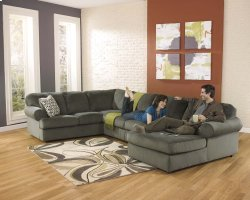 Jessa Place - Pewter 3 Piece Sectional Product Image