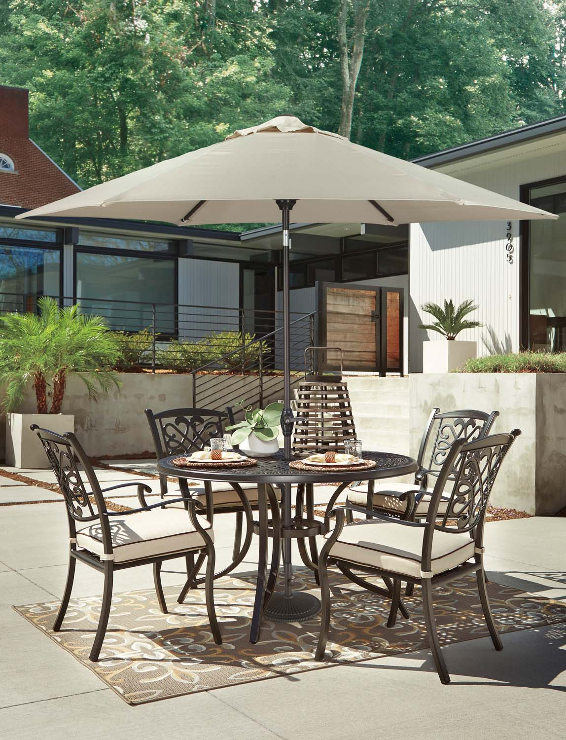 Burnella   Brown 2 Piece Patio Set