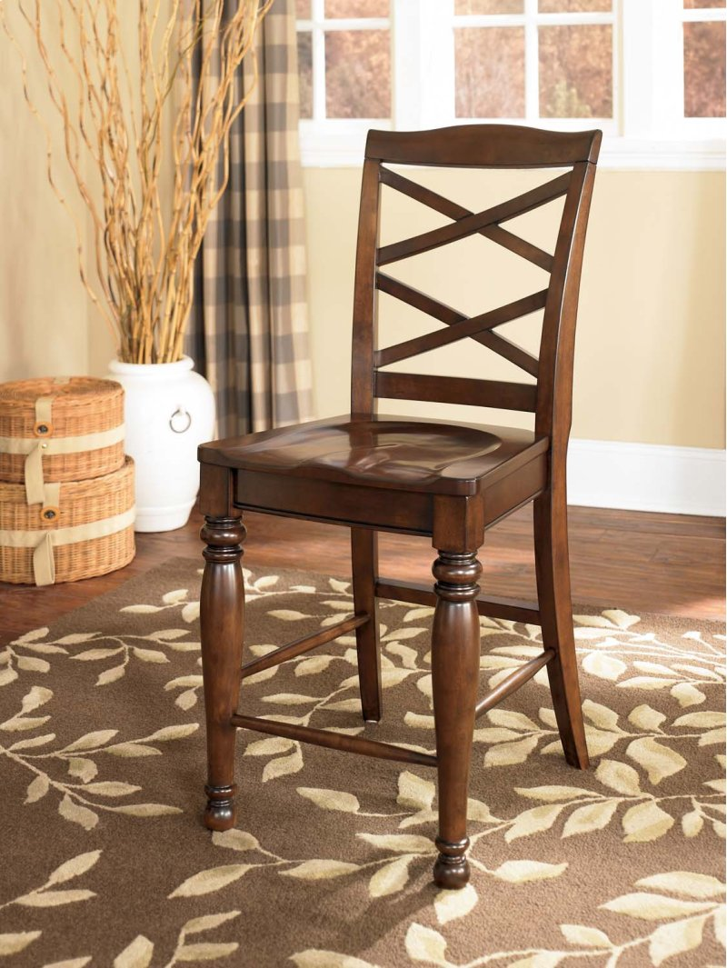 in parma oh porter rustic brown set of 2 dining room barstools