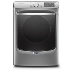 Smart Front Load Electric Dryer with Extra Power and Advanced Moisture Sensing with industry-exclusive extra moisture sensor - 7.3 cu. ft. - METALLIC SLATE
