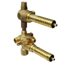 """Universal 1/2"""" Thermostatic Rough Valve With Integrated Two Outlet Dedicated Diverter"""