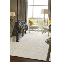 Dramatic Static Cyber White Braided Rugs (Custom)