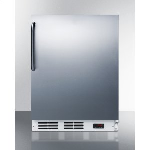 SummitADA Compliant Freestanding Medical All-freezer Capable of -25 C Operation, With Wrapped Stainless Steel Door and Towel Bar Handle