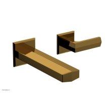 DIAMA Single Handle Wall Lavatory Set - Lever Handles 184-16 - French Brass