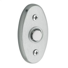 Satin Chrome Oval Bell Button