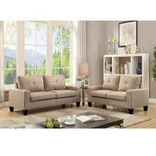 PLATINUM IIBEIGE SOFA/LOVESEAT