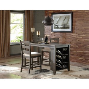 Ashley Furniture Rokane - Brown 3 Piece Dining Room Set