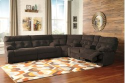 Overly - Chocolate 3 Piece Sectional