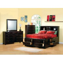 Phoenix Cappuccino Queen Five-piece Bedroom Set