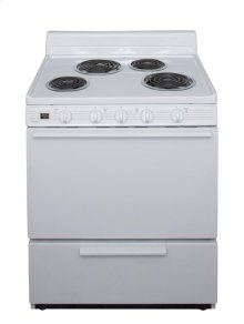 30 in. Freestanding Electric Range in White