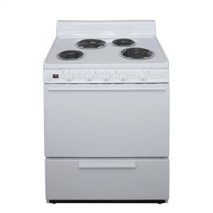 Premier30 in. Freestanding Electric Range in White