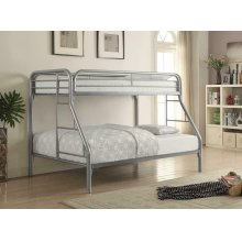 Morgan Twin-over-full Silver Bunk Bed