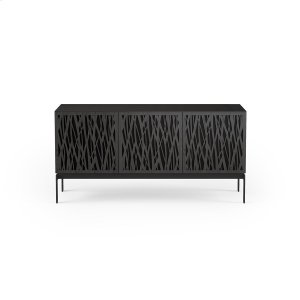 Bdi FurnitureTriple Wide Cabinet W Console Base in Wheat Doors Charcoal Stained Ash