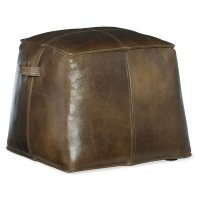Living Room Dizzy Small Leather Ottoman Product Image