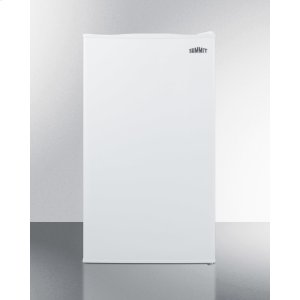 SummitCounter Height Refrigerator-freezer In White for Residential Use, With Manual Defrost, Glass Shelves, and Door Storage