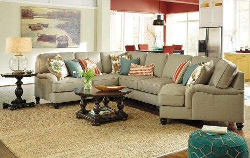 Kerridon 5-Pc Sectional LAF Loveseat w/ Armless Chair, Wedge, Armless Loveseat and RAF Corner Chaise