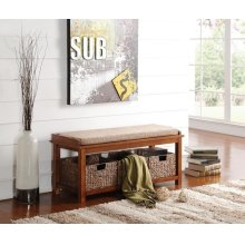 BENCH W/3 BASKETS
