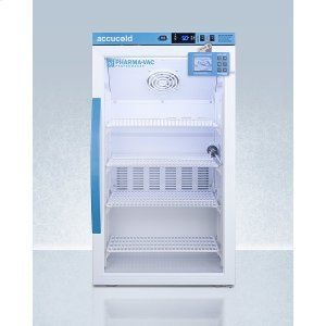 SummitPerformance Series Pharma-vac 3 CU.FT. Counter Height Glass Door All-refrigerator for Vaccine Storage With Factory-installed Data Logger