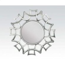 "Silver Accent Mirror, 40""d"