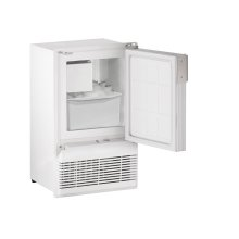 """Marine Series 14"""" Marine Crescent Ice Maker With White Solid Finish and Field Reversible (flange To Cabinet) Door Swing (115 Volts / 60 Hz)"""