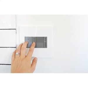 Paddle Dimmer Switch, 450W CFL/LED, Magnesium
