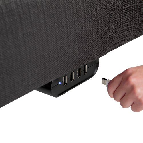 S-Cape 2.0+ Adjustable Bed Base with (2) 4-Port USB Hub's and Full Body Massage, Charcoal Gray Finish, Split Queen