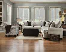 590 Griffin Accent Ottoman- Pewter