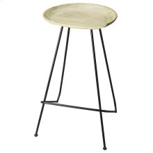 Suggesting a cup of cappucino with a creamy solid mango wood seat perched atop a strong black steel base and legs, this Bar Stool features clean lines and colors that work in virtually any décor.