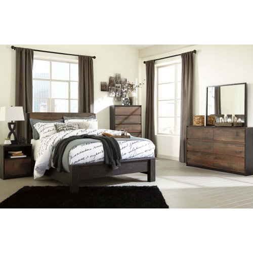 Windlore - Dark Brown 3 Piece Bed Set (Queen)