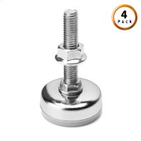Metric Thread Chrome Metal Glides for Adjustable Bases, 4-Pack Product Image