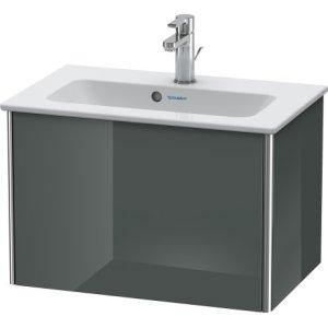 Vanity Unit Wall-mounted Compact, Dolomiti Gray High Gloss Lacquer
