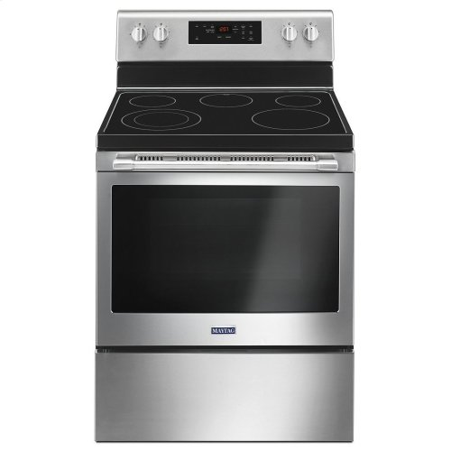 30-Inch Wide Electric Range With Shatter-Resistant Cooktop - 5 3 Cu  Ft